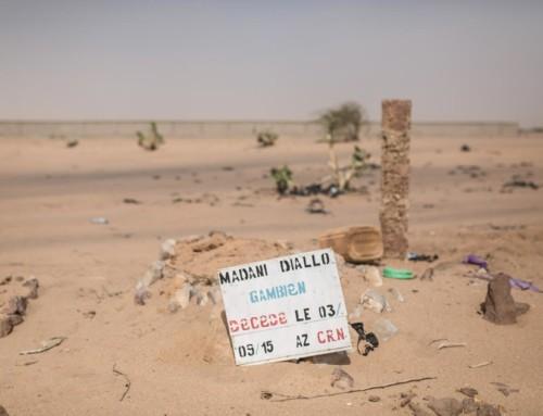 La strada del nuovo cimitero di Niamey